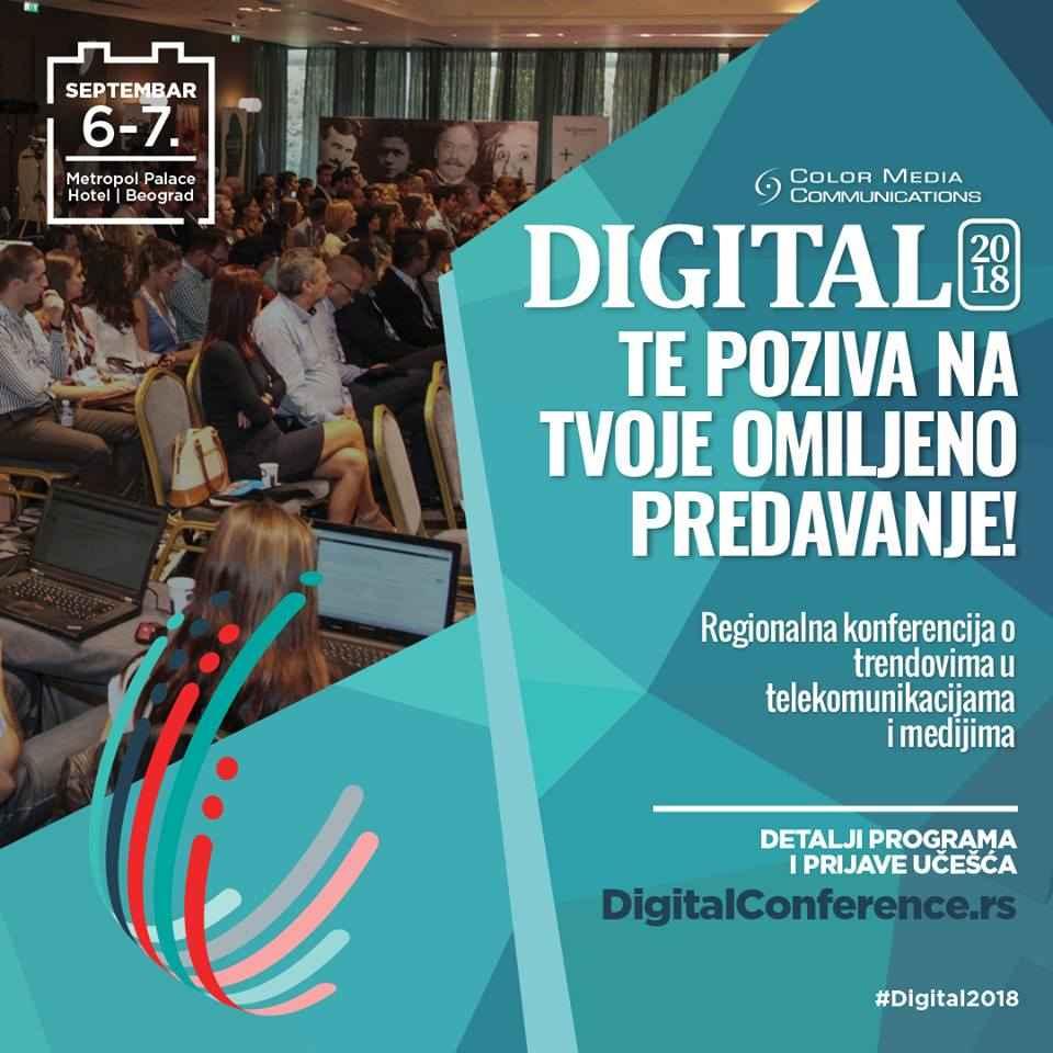NAJVEĆA DIGITALNA KONFERENCIJA U REGIONU 2018 NAJVEĆA DIGITALNA KONFERENCIJA U REGIONU 2018 digital 2018 5